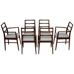 Set of Six Retro Afromosia Dining Chairs by Richard Hornby Vintage, 1950s