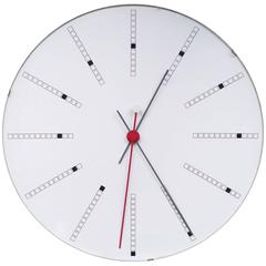 Extra Large Bankers Wall Clock by Arne Jacobsen for Gefa, 1971