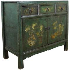Decoratively Painted Mongolian Sideboard