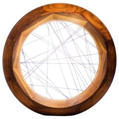 Accretion, Tabletop Light Sculpture in Walnut and Gold Wire by Kalin Asenov