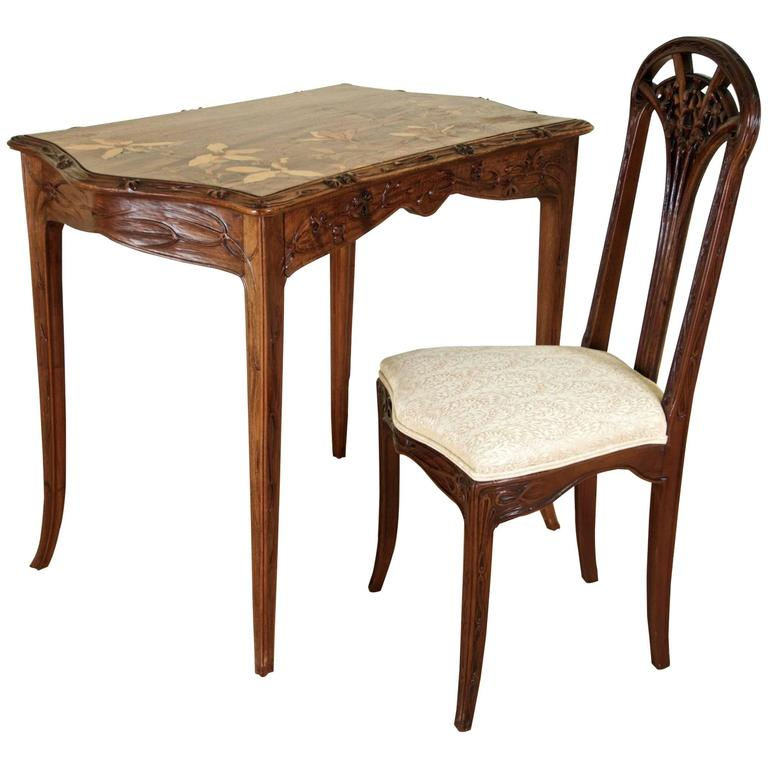Louis Majorelle Desk and Chair For Sale