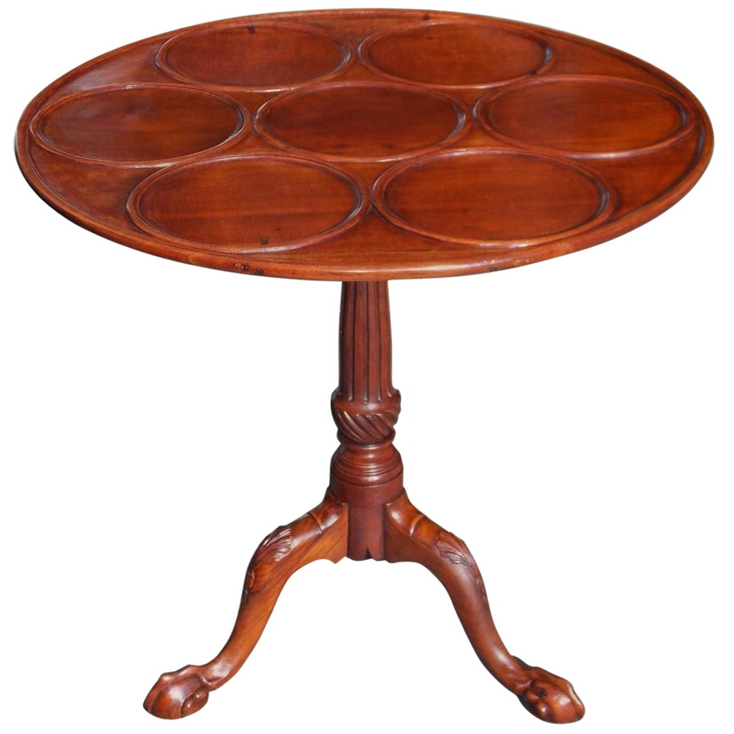 American Chippendale Mahogany Tilt-Top Desert Table, Circa 1770