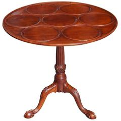 American Chippendale Mahogany Tilt-Top Desert Table, Circa 1770