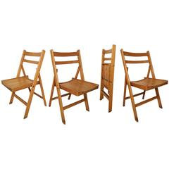 Set of Four Vintage Folding Chairs