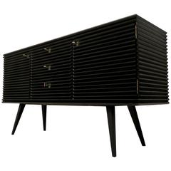 Superb French Sideboard Black Lacquered