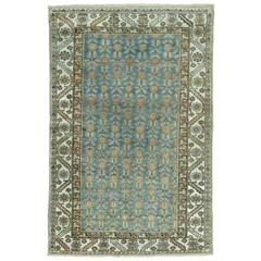 Persian Malayer Rug in Blues and Peach