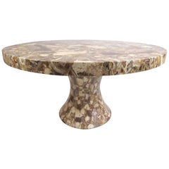 Vintage Pedestal Dining Table by Muller's Onyx