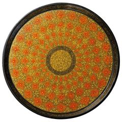 Kashmiri Indian Lacquered Papier Mâché Serving Tray