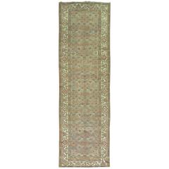 Persian Malayer Runner in Blues and Rust