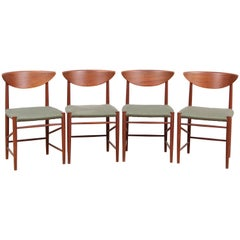 Mid-Century Modern Danish Set of 6 Chairs in Teck Model 316 by Hvidt & Mølgaard