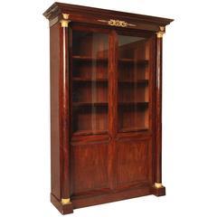Early 19th Century Empire Mahogany and Gilt Bronze Bookcase