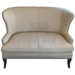 """Custom-Made Our """"Vienna"""" Curved and High Wing Back Solid Eye-Catching Settee"""