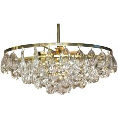 Teardrop Crystal Glass Chandelier by Palwa, circa 1970s