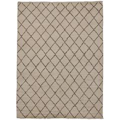 Contemporary Moroccan Rug with Mid-Century Modern Style