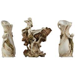 Art Nouveau Royal Dux Porcelain Centrepiece
