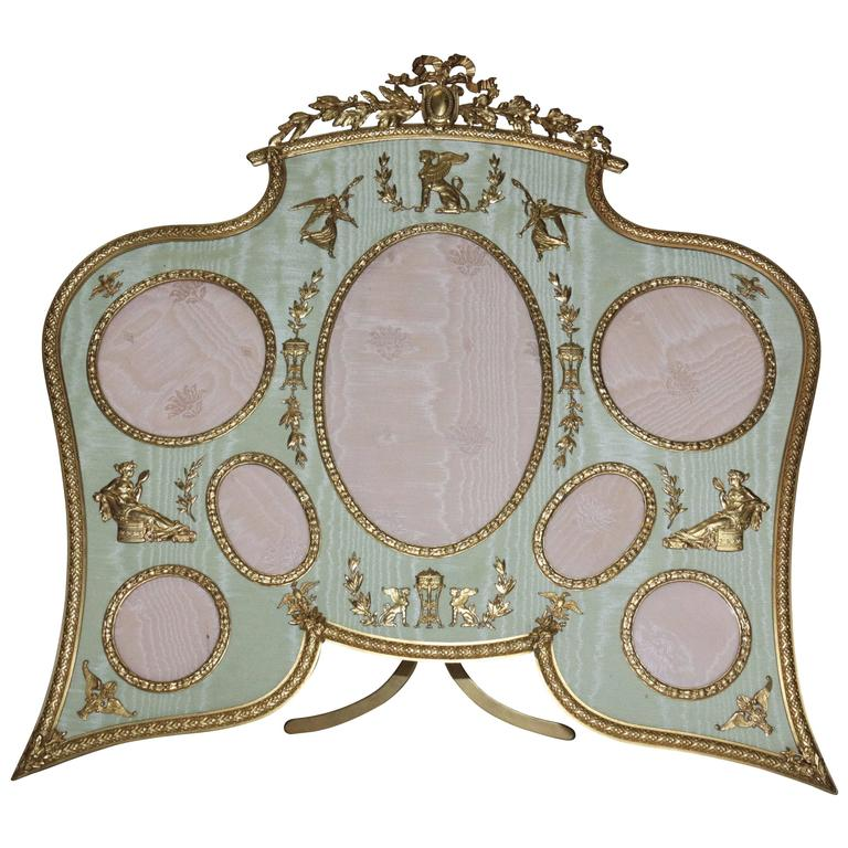 19th Century French Bronze Ormolu Frame For Sale
