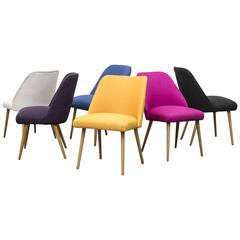 Mid-Century Saarinen Style Multicolored Cocktail Chairs