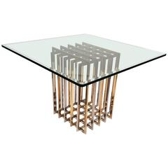 Pierre Cardin Mixed Metals Table for Dining, Game or Entry