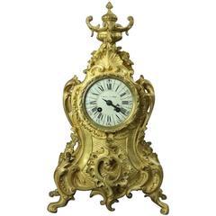 19th Century Louis XV Style French Etienne Maxant Brevete Mantel Clock