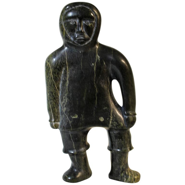 Inuit Soapstone Figural Sculpture For Sale