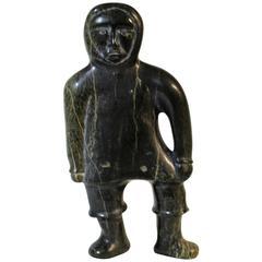 Inuit Soapstone Figural Sculpture