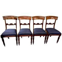 19th Century Set of Four Regency / William iv Mahogany Klismos Chairs