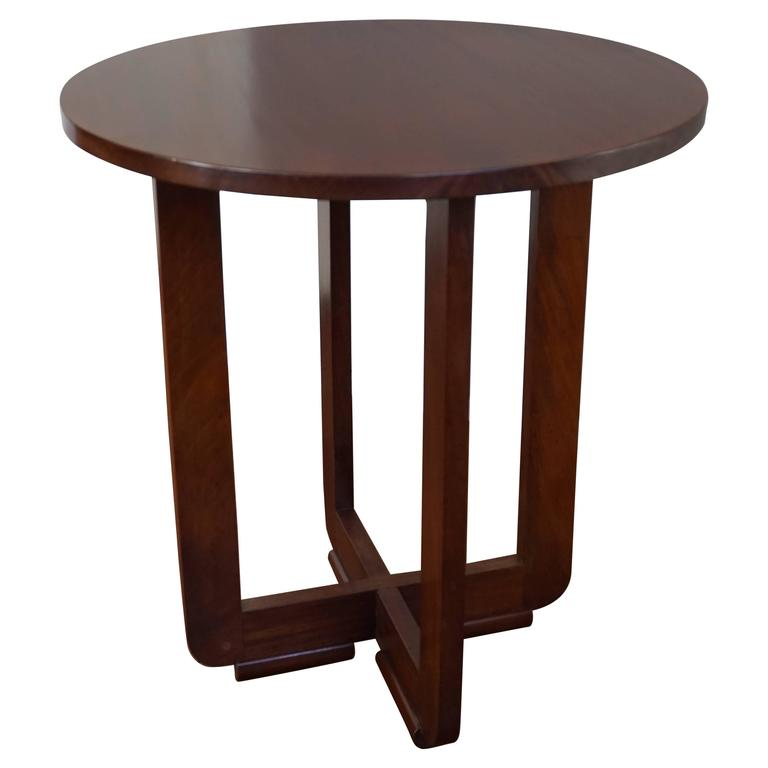 Early 1900s Solid Mahogany Art Deco End Table Great Quality, Condition And  Make For Sale