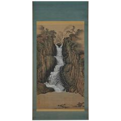 "Sugitani Sessho ""Nachi Falls,"" Japanese Scroll Painting"