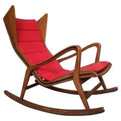 Rare Rocking-Chair Model 572 by the Studio Tecnico Cassina, Italy, 1955