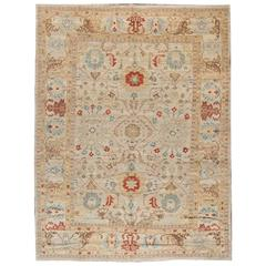 Sultanabad-Style Hand-Knotted Rug