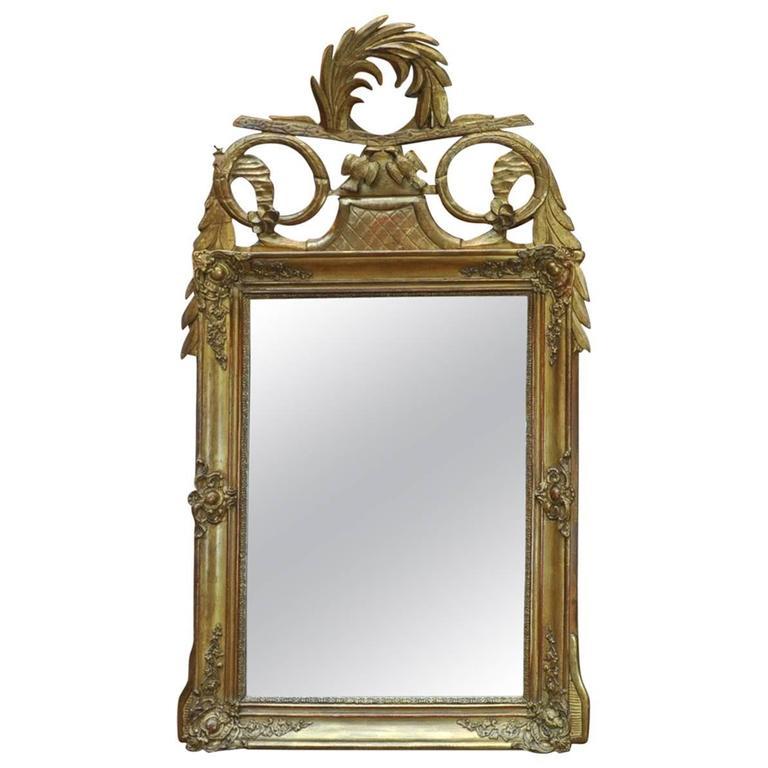 19th Century Gilt Louis XVI Style Mirror