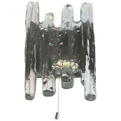 Kalmar Franken Sconces with Ice Block Glass