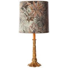 Gilted Wood Candlestick Table Lamp
