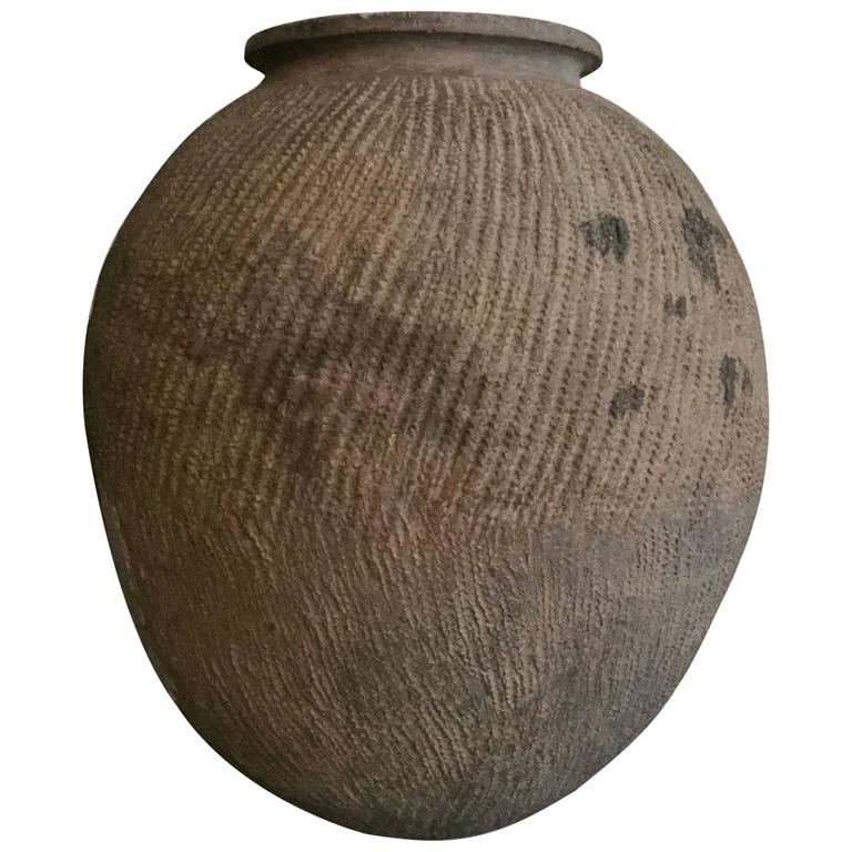 Lovely Old Clay Pot from Nigeria For Sale