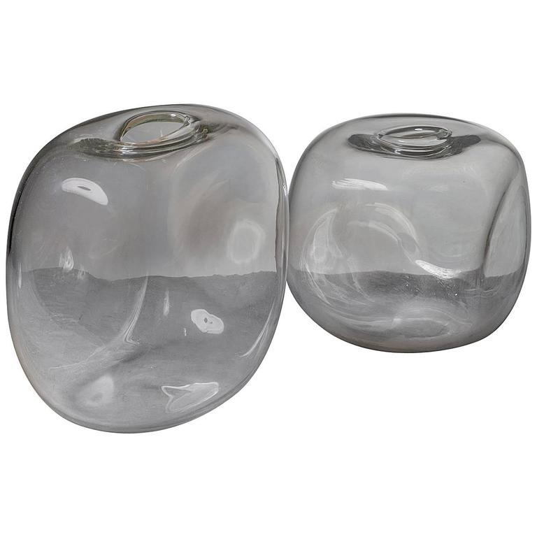 Set of Two Murano Glass Vases by Barbini