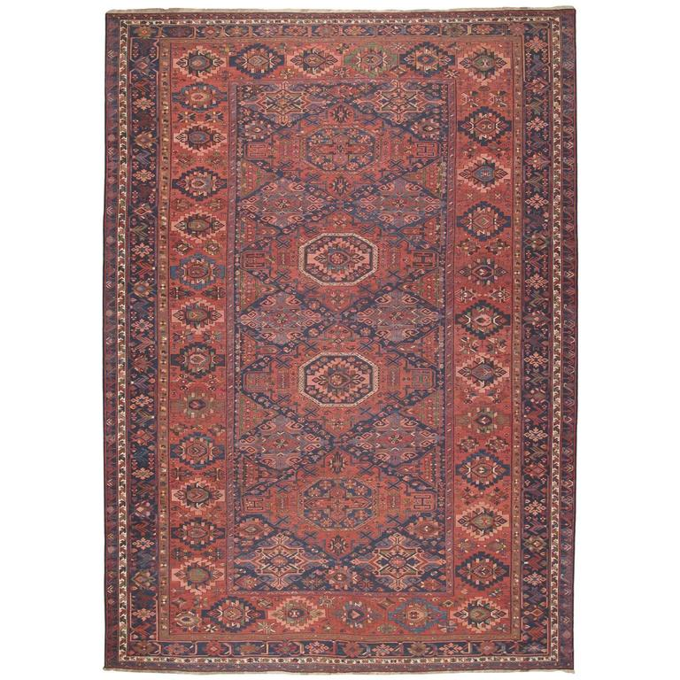 Fantastic Antique Caucasian Sumak Carpet