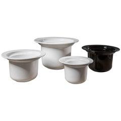 Set of Four Vases by Roberto Arioli for Gabbianelli