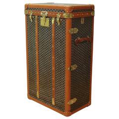 Exceptional Goyard Wardrobe Trunk c1925