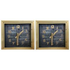 Single or Pair Huge Commercial Neon Deco Clocks or Clockface