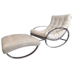 "Mid-Century Renato Zevi ""Ellipse"" Rocking Chair by Selig"