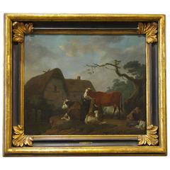 17th Century Oil on Canvas Landscape Painting by Adriaen van de Velde
