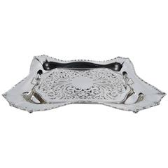 Antique Tiffany Marquise Sterling Silver Asparagus Tray