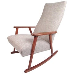 Mid-Century Modern Danish Teak Rocking Chair