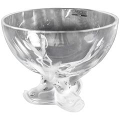 Lalique Crystal Centrepiece Bowl on Dolphin Base
