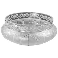 "Lalique ""Tunis"" Clear and Frosted Glass Bowl Centerpiece"