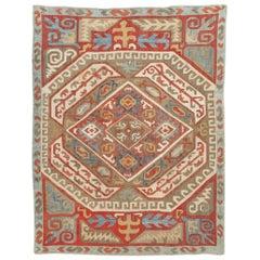 Antique Azerbaijan Silk Kaitag Embroidery Textile