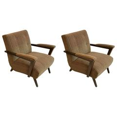 Custom Club Chairs pair of custom club chairs designedpaul laszlo at 1stdibs