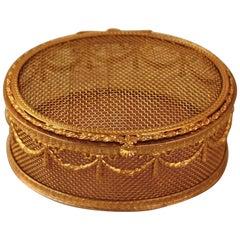 Empire Style Dore Bronze Jewelry Box