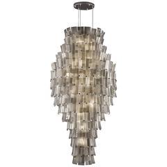 Italian Murano Glass Cascade Chandelier