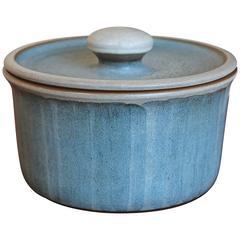 Lidded Ceramic Vessel by Rupert Deese